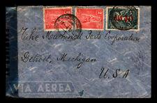 Uruguay 1945 Censor Cover to USA / Small Bottom Tear - L5795