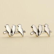 Lovely Silver Bird Shape Stud Earrings Ear Stud For Women Fashion Jewelry Gift