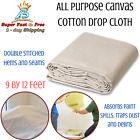 Painters Drop Cloth All Purpose Canvas Drop Cloth For Painting Spill Protection