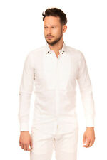 RRP €255 LORDS & FOOLS Shirt Size S Stretch Bib Front Popper Down Collar