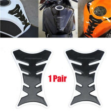 2PCS Carbon Fiber Type Universal Motorcycle Oil Tank Pad Protector Decal Sticker