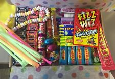 65 Piece Retro Sweet Hamper, Gift, Treat, Birthday, Easter, Spotty tissue