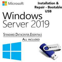 WINDOWS SERVER 2019 EDITION[Standard GUI & Datacenter][64 GB USB 64 Bit]