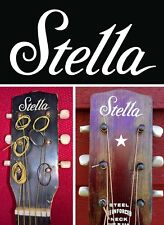 Stella Harmony Headstock Decals Decal Waterslide White Acoustic Archtop Guitar