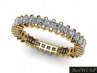 2.00Ct Princess Diamond Shared Prong Anniversary Eternity Ring 10K Gold I SI2