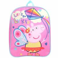 Peppa Pig Bag Backpack Rucksack Nursery Junior Girls Pink School Official