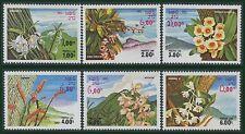 LAOS N°481/486** fleurs sauvages, 1983 Flowers set MNH