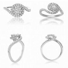 14K White Gold with 0.73 TCW Diamonds with Twisted Shank Size 6.5