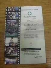 Programa de Unión de Rugby 01/05/1993: Pilkington] [Anglo-Welsh Cup Final-Arlequín