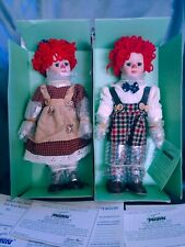 Our American Sweethearts Raggedy Ann & Andy Seymour Mann Porcelain Dolls