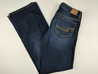 American Eagle Women's Jeans Size 6L Favorite Boyfriend Dark Wash Stretch Denim