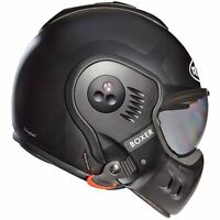 Roof Boxer V8 Bond Titanium / Black Motorcycle Convertible Helmet | All Sizes