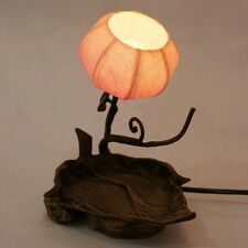Paper Oriental Decorative Shade Leaf Design Bedside Orange Lantern Table Lamp