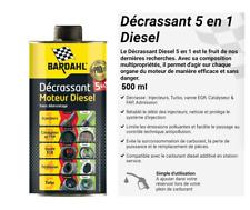 500 ml BARDAHL Décrassant Moteurs Diesel  5 En 1 Injecteur EGR Catalyseur Turbo
