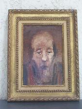 Huile sur toile portrait ancien. Oil on canvas portrait old François Heaulmé