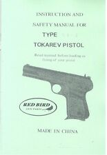 Chinese TOKAREV TYPE 54-1 9mm Pistol Manual Handbook