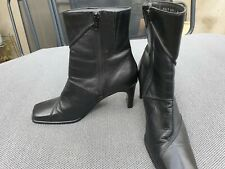 Hush Puppies genuine soft leather boots women's UK 6 EU 39 black great condition