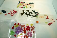 New Gel Cling Window Stickers Santa Reindeer Snowman Christmas Theme