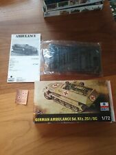 1/72 Esci German Ambulance Sd. Kfz. 251/8C Plastic Model Kit
