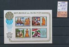 LM83664 Burundi 1986 republic anniversary imperf sheet MNH cv 70 EUR
