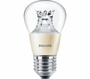 Philips 4w MAS LEDlustre DT Golf Ball P48 E27 / ES Extra Warm White 2700k Clear