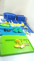 ELC Happyland Blue Track Road 25 Pieces Plus Signs/ Tree/ Vehicles