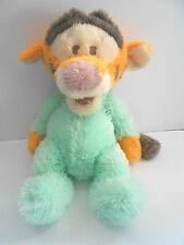 "Disney WDW 18"" Pastel Tigger Plush Mint Green Pajama Baby Lovey Floppy Toy GUC"