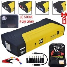 12V 68800mAh Portable Battery Jump Starter Air Compressor Car Booster Jumper USA