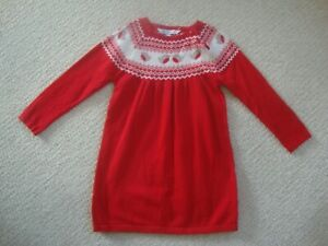 John Lewis baby girl's reindeer dress size 12-18 months - knitted