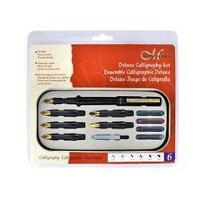 Manuscript DELUXE Calligraphy Set Kit 6 Nibs, FOR LEFT HANDERS Made in UK 61155L