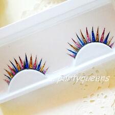 Colorful Glitter Feather False Fake Eyelashes Eye Lashes for Party Stage Makeup