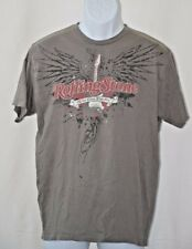 "Rolling Stone Magazine All The News That Fits Putty Gray T Shirt L 40"" Chest"