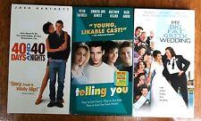 3 VHS Movies - My Big Fat Greek Wedding, Telling You, 40 Days and 40 Nights