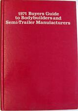 FORD 1971 Buyers Guide to Bodybuilders Semi Trailer Commericals Brochure 1971