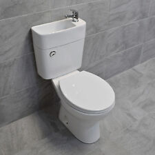 Duo Toilet Basin Combo Combined Toilet with Sink Tap Space Saving Cloakroom Unit