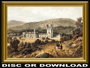 VINTAGE SCOTLAND ENGRAVINGS - Restored Hi-Res PRINT-MAKING IMAGES, DISC/DOWNLOAD