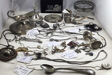 Vintage Lot Of 600 Gram Mix 00006000 ed Sterling and Other Silver Scrap Or Not No Reserve