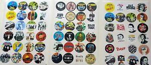 72 PUNK STICKERS - All 3 Sets! Clash, Jam, Pistols, Devo, Spex, buzzcocks, more!