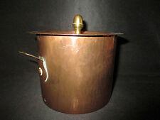 ancienne petite cocotte en cuivre et laiton XIX ème