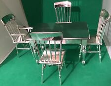 Superb Vintage Mappin & Webb Miniature Silver Plated Kitchen Table + 4 Chairs