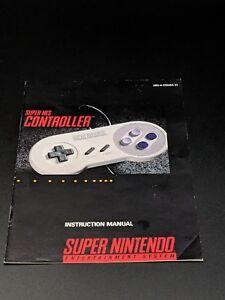 Super NES Controller Instruction Manual Super Nintendo SNES EXMT condition