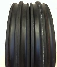 TWO FRONT TRACTOR 400x12, 400-12, 4.00-12 Front 3 Rib Tractor Tires with Tubes