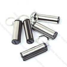 5 Pcs Permanent Match Striker Lighters Key Chain Silver