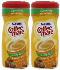 2 Nestle Coffee Mate Sugar Free Hazelnut Coffee Creamer 10.2oz.