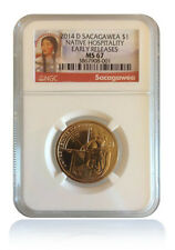 Lot Of 20 NGC MS67 2014-D Native American Sacagawea Dollar Early Releases