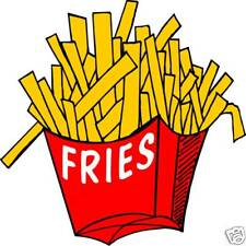 Fries French Fry Concession Restaurant Food Decal 12""