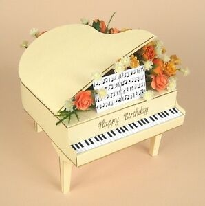 A4 Card Making Templates for 3D Grand Piano & Display Box by Card Carousel