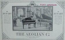 PUBLICITE THE AEOLIAN COMPANY PIANO LE DUO ART ELECTRIQUE OU PEDALES DE 1925 AD
