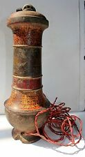 Vintage Wooden Electric Lamp Art Deco Made In India With Wire Weight 2 Kg 600 Gm