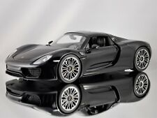 Welly Museum Porsche 918 Spyder Black Model Car 1:18